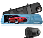 KDLINKS R100 Ultra HD 1296P Front + 1080P Rear 280° Wide Angle Anti-Glare Rearview Mirror Dual Lens Dash Cam