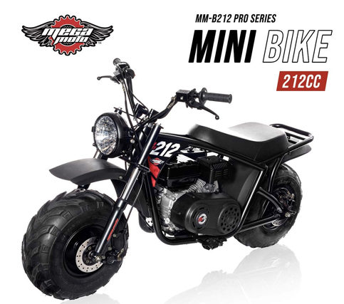 Mega Moto MM-B212-RB With Suspension 7.5HP Classic 212CC Mini Bike Assembled in the USA