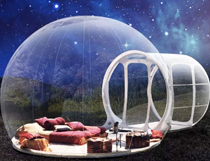 Bubble Tents Outdoor Single Tunnel Inflatable Family Camping Backyard Transparent