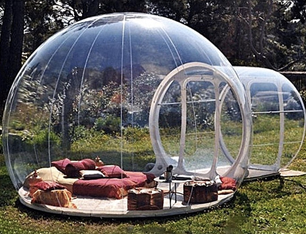 HUKOER luxurious Outdoor Single Tunnel Inflatable Bubble Tent