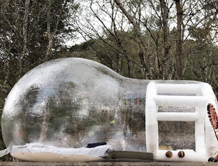 Happybuy Outdoor Single Tunnel Bubble Tent Transparent