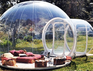 LeaningTech BT-02 Outdoor Single Tunnel Inflatable Transparent Bubble Tent House