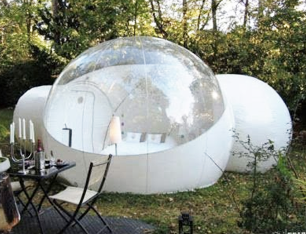 RelaxNow(TM 2 Tunnel Transparent Bubble Tent Outdoor Inflatable Bubble Camping Tent