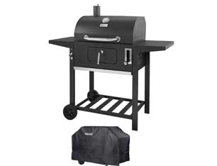 Royal Gourmet 24 Inch Charcoal Grill, BBQ Outdoor Picnic, Patio Backyard Cooking, with Cover
