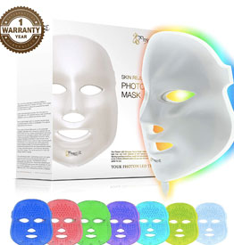 7 Color LED Mask Photon Light Skin Rejuvenation Therapy Facial Skin Care Mask