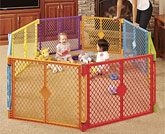 North States Superyard Colorplay 8-Panel Play Yard