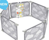 Skip Hop Baby Playard Expandable Playpen Enclosure, Silver Lining Cloud