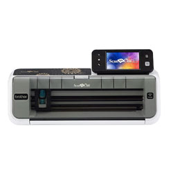 "Brother CM350 Electronic Cutting Machine, Scanncut2, 4.85"" LCD Touch Screen, Wireless Network Ready, 300 DPI Scanner, 631 Built-in Designs"