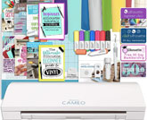 Silhouette Cameo 3 Bluetooth Bundle with 12x12 Inch Sheets of Oracal 651 Vinyl