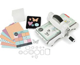 Sizzix Big Shot Starter Kit Manual Die Cutting Machine with Extended Platform and Bigz and Thinlits Dies, Embossing Folder and Cardstock, 6 in (15.24 cm) Opening,