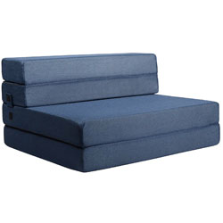 Milliard Tri-Fold Foam Folding Mattress and Sofa Bed for Guests or Floor Mat - Twin XL 78x38x4.5 Inch
