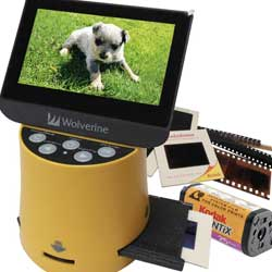 "Wolverine Titan 8-in-1 High Resolution Film to Digital Converter with 4.3"" Screen and HDMI Output"