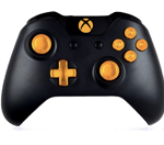 Gold 9MM Xbox One Modded Controller with all Metal Bullet Buttons