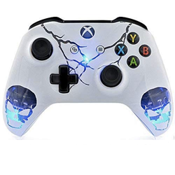 Skulls White Xbox One S Rapid Fire Custom Modded Controller 40 Mods