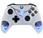 Skulls White Xbox One S Rapid Fire Custom Modded Controller