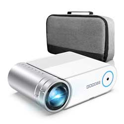 Mini Projector, GooDee G500 HD Video Projector 4000 Lux with 50,000 Hrs, 200 inch Home Theater Movie Projector