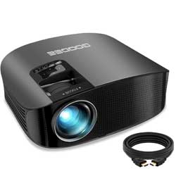 "Projector, GooDee Upgrade HD Video Projector 4500L Outdoor Movie Projector, 230"" Home Theater Projector"