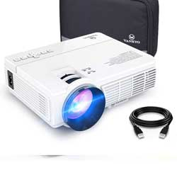 VANKYO LEISURE 3 Mini Projector, 1080P and 170'' Display Supported, 3600L Portable Movie Projector with 40,000 Hrs LED Lamp Life