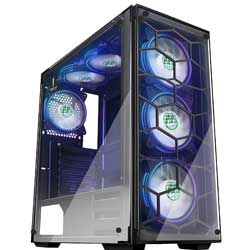 MUSETEX Phantom Black ATX Mid-Tower Desktop Computer Gaming Case