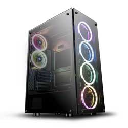 darkFlash Phantom Black ATX Mid-Tower Desktop Computer Gaming Case