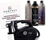Norvell Sunless Kit - M1000 Mobile HVLP Spray Tan Airbrush Machine + 8 oz Tanning Solutions in Ultra Vivid 'Cosmo Light', Venetian and Dark + Norvell Training Programme – A best professional spray tan system by Norvell